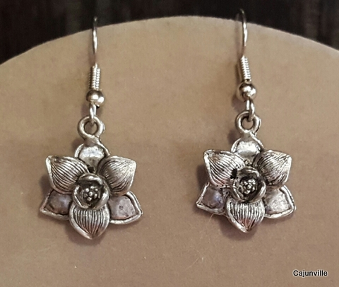Magnolia Earrings by Cajunville